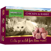 Natures Menu Complete Chicken & Rabbit Nuggets Raw Frozen Cat Food