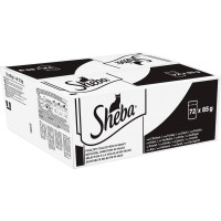 Sheba Poultry Collection in Gravy Adult Cat Food Pouches 85g x 72