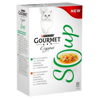 Gourmet Crystal Soup Chicken Multipack Adult Cat Food 40g x 4