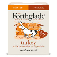 Forthglade Complete Turkey with Brown Rice & Veg Adult Dog Food 395g x 18
