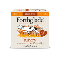 Forthglade Complete Grain Free Turkey Sweet Potato & Veg Adult Dog Food 395g x 18