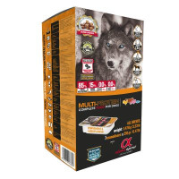 Alpha Spirit Multi-Protein Semi Moist Adult Dog Food 210g x 7