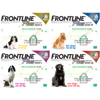 Frontline Plus Flea & Tick Spot On Dog 2-10kg Small Dog x 3 NFA-D