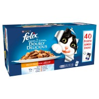 Felix As Good As It Looks Doubly Delicious Meat Selection Adult Cat Food 100g x 40