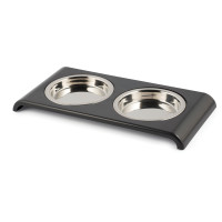 Acticat Stainless Steel Twin Feeder Cat Dish