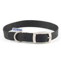 Ancol Heritage Nylon Dog Collar Black Small