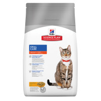 Hills Science Plan Oral Care Chicken Adult Dry Cat Food 5kg x 2