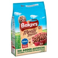 Bakers Complete Meaty Meals Beef Adult Dog Food 2.7kg