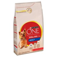 Purina One Small Dog Beef & Rice Adult Dog Food 1.5kg