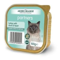 Arden Grange Partners Grain Free Turkey with Duck & Heart Adult Cat Trays 100g x 16