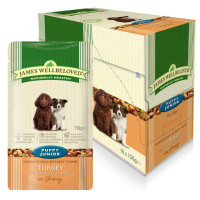James Wellbeloved Turkey & Rice Puppy Dog Pouches 150g x 10