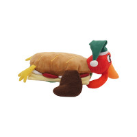 Rosewood Cupid & Comet Turkey Club Sandwich Dog Toy