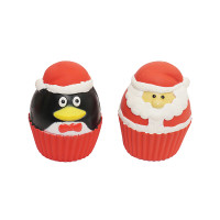 Rosewood Christmas Cupcake Squeakies Dog Toy 2 Pack