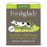 Forthglade Gourmet Beef & Wild Boar with Root Vegetables & Apple Adult Dog Food 395g x 7