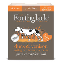 Forthglade Gourmet Duck & Venison with Green Beans & Apricot Adult Dog Food 395g x 7