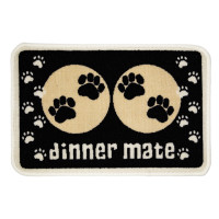 Pet Rebellion Dinner Mate Dog & Cat Mats Black 30x40cm