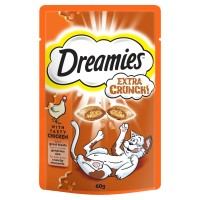 Dreamies Extra Crunch Cat Treats Chicken 60g