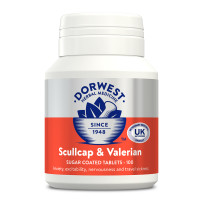 Dorwest Veterinary Scullcap & Valerian Tablets 100 Tablets