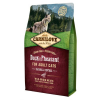 Carnilove Hairball Control Duck & Pheasant Adult Cat Food