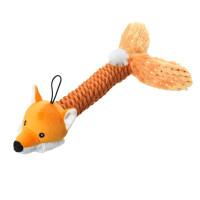 House of Paws Sparkle Fox Thrower Dog Toy