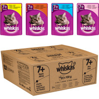 Whiskas 7+ Mixed Selection in Jelly Wet Senior Cat Food Pouch 100g x 84