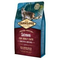 Carnilove Sensitive & Long Hair Salmon Adult Cat Food 6kg