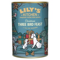 Lilys Kitchen Three Bird Feast Christmas Dog Food 400g x 6
