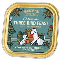 Lilys Kitchen Three Bird Feast Dog Food 150g x 10