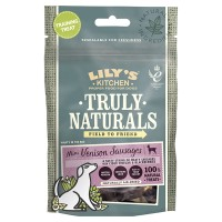 Lilys Kitchen Truly Naturals Venison Sausages Adult Dog Treats 60g