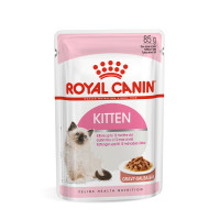 Royal Canin Health Nutrition Kitten Instinctive in Gravy Kitten Food 85g x 12