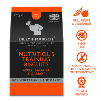 Billy & Margot Training Dog Biscuits 125g Apple, Banana & Carrot