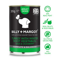 Billy And Margot Adult Turkey and Vegetables Dog Food 395g x 12