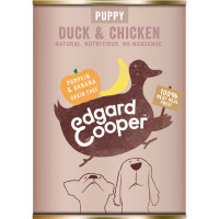 EdgardCooper Duck & Chicken with Pumpkin & Banana Wet Puppy Food 400g x 6