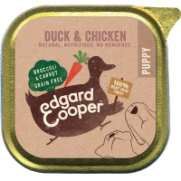 EdgardCooper Chicken & Duck with Broccoli & Carrot Wet Puppy Food 150g x 11