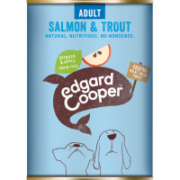 EdgardCooper Salmon & Trout with Spinach & Apple Wet Adult Dog Food 400g x 6