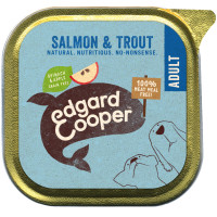EdgardCooper Salmon & Trout with Spinach & Apple Wet Adult Dog Food 150g x 11