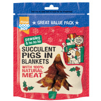 Good Boy Pawsley & Co Pigs in Blankets Christmas Dog Treats 300g