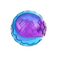 GiGwi Transparent Squeaker Ball Dog Toy Blue & Purple