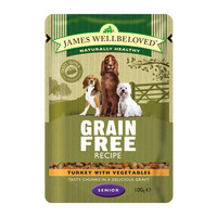 James Wellbeloved Turkey Senior Dog Grain Free Pouches 100g x 12
