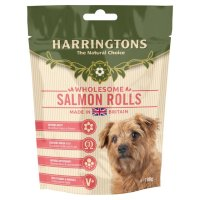 Harringtons Dog Salmon Rolls 100g