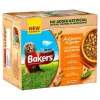 Bakers As Good As It Looks Casserole Favourites Multipack Wet Dog Trays 200g x 4