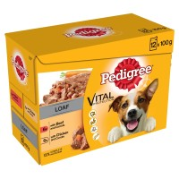 Pedigree Mixed Selection in Loaf Wet Adult Dog Food 100g x 12