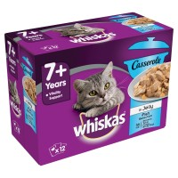 Whiskas Casserole Fish Selection 7+ Senior Cat Pouches in Jelly 85g x 12