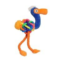 Jolly Doggy Tough Multi Texture Flamingo Dog Toy