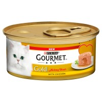 Gourmet Gold Melting Heart Chicken Adult Cat Food 85g x 12