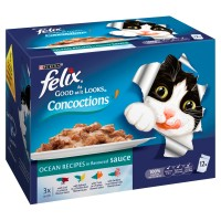Felix As Good As It Looks Concoctions Ocean Recipes Adult Cat Pouches 100g x 12