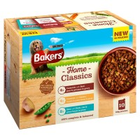 Bakers Home Classics with Beef, Chicken & Duck Adult Dog Pouches 100g x 10