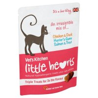 Vets Kitchen Little Hearts Triple Cat Treats 60g