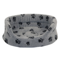 Danish Design Fleecy Grey Slumber Dog Bed
