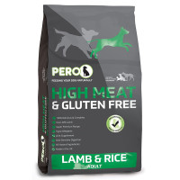 Pero High Meat & Gluten Free Lamb & Rice Adult Dog Food 12kg